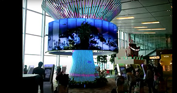 Descubrí el LG Video Wall en el Aeropuerto Changi de Singapur
